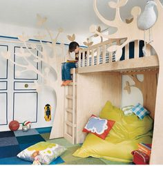 absolutely incredible loft bed!  #tree #nursery #pinparty