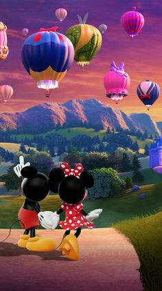 iPhone and Android Wallpapers: Minnie and Mickey Mouse Wallpaper for iPhone and Android Mickey Minnie Mouse, Mickey Mouse Kunst, Mickey Mouse And Friends, Disney Mickey, Retro Disney, Art Disney, Disney Kunst, Disney Films, Mickey Mouse Wallpaper Iphone