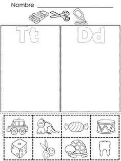 El abecedario con T, D, N, B