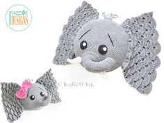NEW PATTERN Josefina and Jeffery Elephant por IRAROTTpatterns