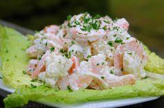 Shrimp potato salad {Ensalada de papas con camarones}