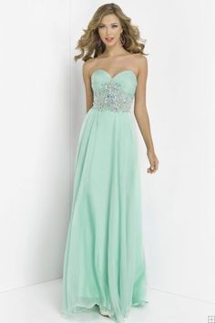 Charming A-line Sweetheart Crystal Detailing Floor-length Chiffon Prom Dresses/Special occasion dresses
