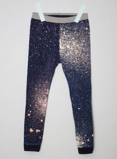 Galaxy Jams: A Fancy Pants Review and Giveaway from small + friendly. I love the bleach/paint splatter design on the fabric