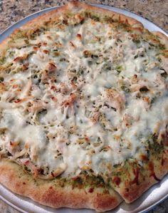 Garlic Chicken Pesto Pizza   The Cookin Chicks