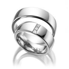 Alianzas de boda en oro blanco | joyas personalizadas y artesanales