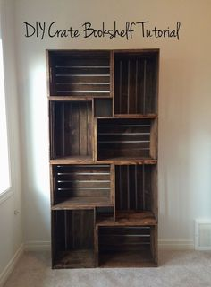 DIY Crate Bookshelf Tutorial — Tara Michelle Interiors… DIY Crate Bookshelf Tutorial — Tara Michelle Interiors http://www.coolhomedecordesigns.us/2017/06/11/diy-crate-bookshelf-tutorial-tara-michelle-interiors-2/