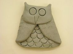 One Crayola Short: Clay Owls...folded technique