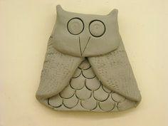 One Crayola Short: Clay Owls...folded technique