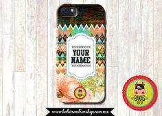 Vintage case wood floral i Phone Case / iPhone por bakasonlineshop