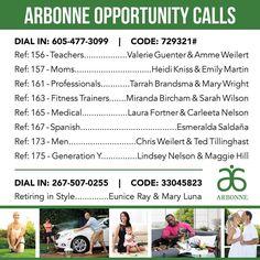 Discover Arbonne recorded calls.  Take a listen then contact me, Carmen Jopp #13138701 or carmenjopp.arbonne.com