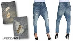 FRACOMINA Faded effect chinos Jeans