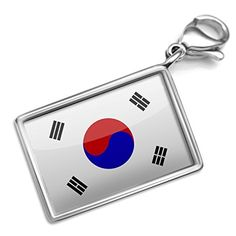 Neonblond South Korea Flag - Charm Lobster Clasp clip on by NEONBLOND -- Awesome products selected by Anna Churchill