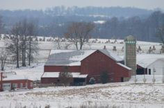 Amish Farm in the Middle of Winter ~ Sarah's Country Kitchen ~