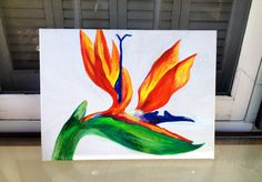 Bird of Paradise by ArtbyMaryAlfred on Etsy
