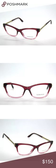 68800a98019f ☀️Versace 3214 Transparent red Glasses Frame New