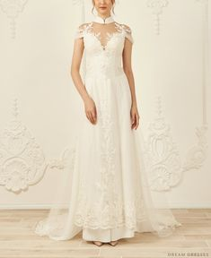 Shop the wide range of White Bridal Ao Dai Ao Dai Wedding, Red Wedding, Chiffon Pants, Silk Chiffon, Lace Ao Dai, Vietnamese Wedding Dress, Ao Dai Modern, Wedding Dresses Pinterest, White Bridal