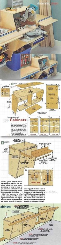 Miter Saw Station Plans - Miter Saw Tips, Jigs and Fixtures   WoodArchivist.com by jewell