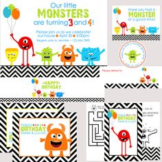 monster--I love this because my little monsters will be turning 2 and 4..great idea!!