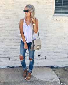 Casual summer clothes, casual summer fashion, preppy outfits spring, casual p Spring Outfits Classy, Cute Summer Outfits, Cute Outfits, Casual Summer Clothes, Summertime Outfits, Stylish Clothes, Work Outfits, Winter Outfits, Spring Outfits Women Casual