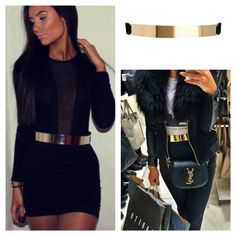Get the look - Cari Skinny Gold Plated Belt for just €29 ladies❤️Call 018456477 / 018457540 to order now or order from www.cariscloset.ie ❤️