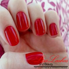 Red Gel Nails in Burnley