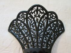 Stunning Antique Black Celluloid Haircomb by AntiqueHaircombDepot