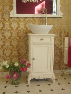 Mit Marmorplatte Nussbaumfurnier Romantisch Waschkommode Kommode