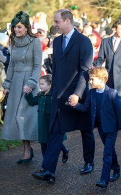 Prince George and Princess Charlotte, alongside mom Kate Middleton and dad Prince William, made their Christmas debut on the family's annual walk to church services. The Duchess, Duchess Of Cambridge, William Kate, Prince William, Celebrity Photos, Celebrity News, Royal Christmas, Christmas 2019, Celebrating Christmas