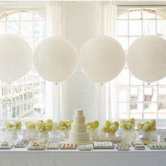 white wedding candy bar dessert table