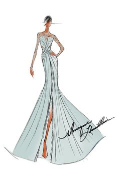 - Photo - Designers have revealed sketches that show what they think Michelle Obama should wear to the Inauguration ball Illustration Mode, Fashion Illustration Sketches, Fashion Design Sketches, Sketch Fashion, Fashion Drawings, Wedding Dress Sketches, Top Wedding Dresses, Illustrator, Croquis Fashion