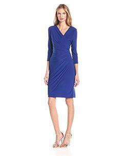 MSK Women s Faux Wrap Dress d8bbbfbfd933
