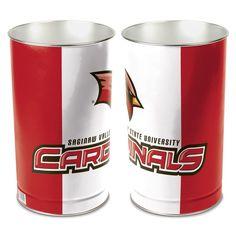 Saginaw Valley State Cardinals Tier Wastebasket - Red/White