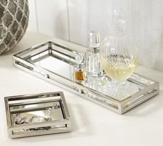 Great for vanity or night table! Mirrored Trays | Pottery Barn