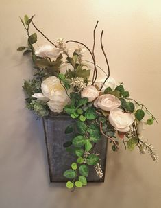 Excited to share this item from my shop: Rustic Farmhouse Shabby Chic Peony Door Hanger Farmhouse Wreath Fake Flowers Decor, Flower Decorations, House Decorations, Dried Flowers, Shabby Chic Farmhouse, Farmhouse Style Decorating, Industrial Farmhouse, Deco Floral, Floral Wall