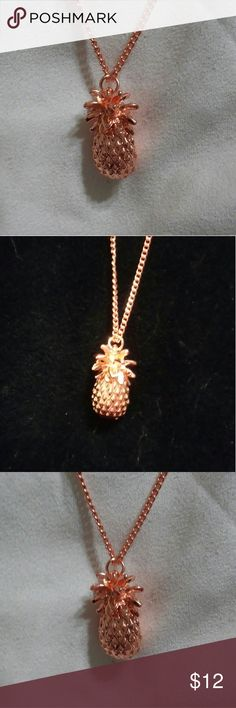 """Rose Gold Pineapple Necklace 24"""" chain with 2"""" extender. New Item! Jewelry Necklaces"""