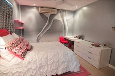 A Dancer's Dream - Take a photo to a custom printer and blow it up into a cool wall mural #kidsbedroom