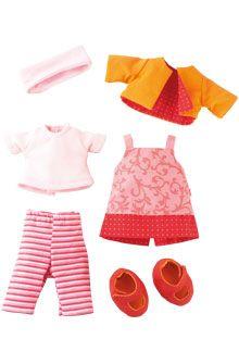 Lina Clothes Set for Haba 30cm & 34cm Soft Dolls