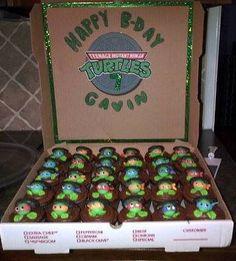 ninja turtle cupcakes for gavins birthday