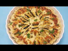 Cartofi si dovlecei gratinati la cuptor (cu smantana si cascaval) - YouTube Apple Pie, Quiche, Youtube, Make It Yourself, Cooking, Breakfast, Desserts, Food, Gratin