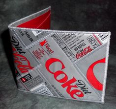 BiFold Wallet from Repurposed Diet Coke Soda Bottle Wrappers by squigglechick, $30.00