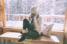 Barefoot Blonde Amber at the cabin wearing UGG Australia