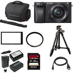 Sony a6300 Mirrorless Digital Camera w/ 16-50mm f/3.5-5.6 Lens