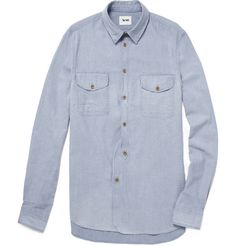 AcneOhio Chambray Shirt | Reg. $240, Sale $72 | every man should own a chambray shirt. http://rstyle.me/fv4xd8c6bw