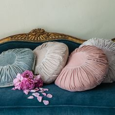 from Rachel Ashwell Coutoure - velvet accent pillows... I'm Loving that Rachel is adding Jewel Tones to her Palette!