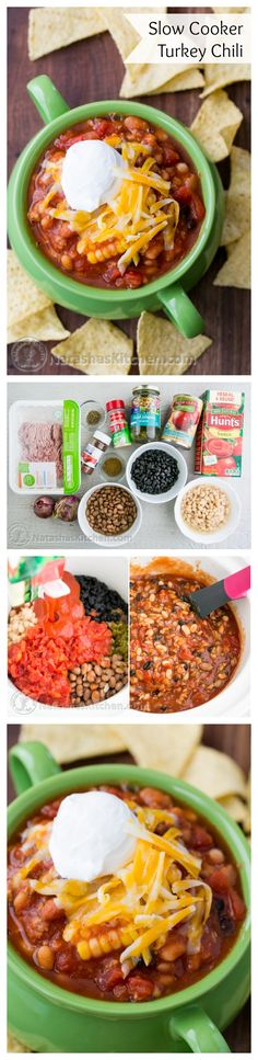 Slow Cooker Turkey Chili Recipe from @natashaskitchen