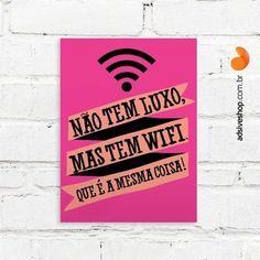 """Placas Decorativas """"Wifi"""""""
