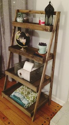 Welcome to iheartrestorations! This rustic handmade shelf is made out of solid pine wood and stained in a walnut finish with grey undertones.