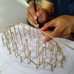 Interior Architecture Drawing, Architecture Design, Architect Sketchbook, 3d Geometric Shapes, Geometric Sculpture, Purple Line, Hospital Design, Bamboo Design, Playground Design