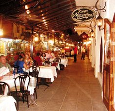 Kaiser Maximillian, Puerto Vallarta. -outside  My apartment was right above this restaurant. My daughter loved the mariachi bands every night!