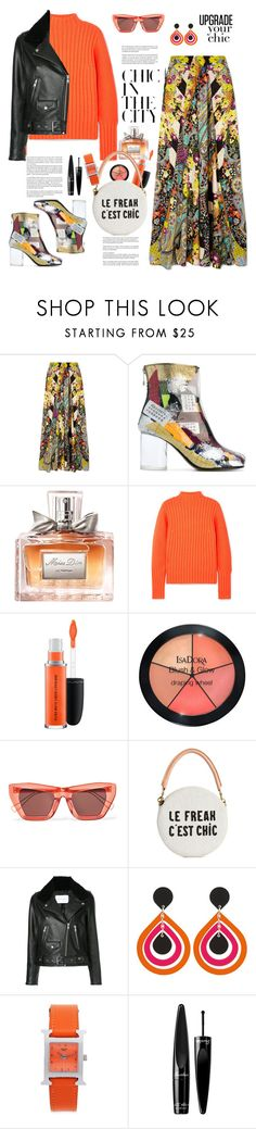 """PFW City Style"" by ellie366 on Polyvore featuring Etro, Maison Margiela, Christian Dior, Victoria, Victoria Beckham, MAC Cosmetics, Isadora, Whiteley, Rejina Pyo, Clare V. and Nobody Denim"